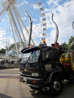 Crane truck at the Brisbane wheel