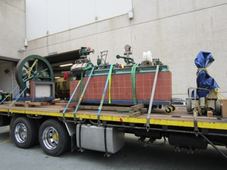 Transporting vintage machinery for a museum in Brisbane